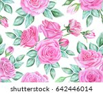 seamless floral pattern with... | Shutterstock . vector #642446014