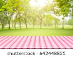 empty table and picnic on...   Shutterstock . vector #642448825