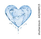 Heart Made Of Water Splashes...