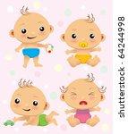 babies | Shutterstock .eps vector #64244998