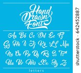 hand drawn fonts  calligraphic... | Shutterstock .eps vector #642452887