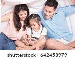 asia kids happy loving family....   Shutterstock . vector #642453979