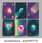 retro trendy hipster posters ... | Shutterstock . vector #642459775