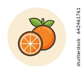 cartoon orange vector icon | Shutterstock .eps vector #642461761