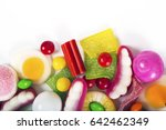 colorful candies  jelly and... | Shutterstock . vector #642462349