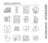 vector icon set  with medical... | Shutterstock .eps vector #642462685