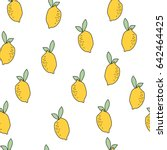 lemon pattern | Shutterstock .eps vector #642464425