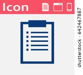 flat icon of clipboard | Shutterstock .eps vector #642467887