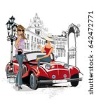 series of the streets with... | Shutterstock .eps vector #642472771