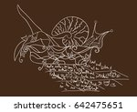 abstract greeting card. the... | Shutterstock .eps vector #642475651