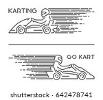 vector line karting symbol and... | Shutterstock .eps vector #642478741