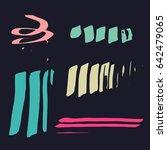 vector brush stroke. grunge ink ... | Shutterstock .eps vector #642479065