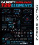 hud elements mega pack. 120... | Shutterstock .eps vector #642479689