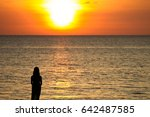 sunset view of borneo | Shutterstock . vector #642487585