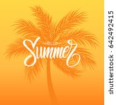 hello summer card with... | Shutterstock .eps vector #642492415
