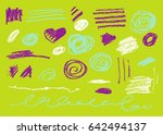 vector brush stroke. grunge ink ... | Shutterstock .eps vector #642494137