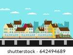 train on railway. vector travel ... | Shutterstock .eps vector #642494689
