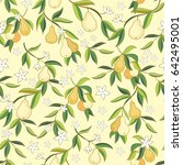 seamless vector pattern with... | Shutterstock .eps vector #642495001
