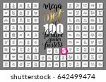 mega set of 100 positive quotes ...   Shutterstock .eps vector #642499474