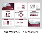 purple layout brochure design ... | Shutterstock .eps vector #642500134