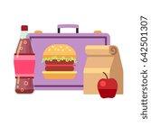 healthy school lunch  student... | Shutterstock . vector #642501307