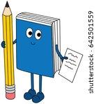 cartoon illustration of a book... | Shutterstock .eps vector #642501559