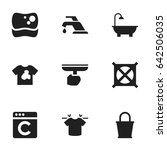 set of 9 editable hygiene icons....