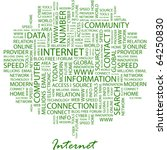 internet. word collage on white ... | Shutterstock .eps vector #64250830
