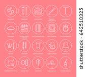 contraceptive methods line... | Shutterstock .eps vector #642510325
