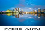 singapore skyline with twilight ... | Shutterstock . vector #642510925