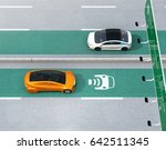 electric cars driving on the... | Shutterstock . vector #642511345