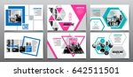 design template   abstract... | Shutterstock .eps vector #642511501