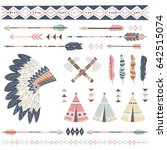 tribal collections set with... | Shutterstock .eps vector #642515074