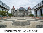 the new york state capitol and... | Shutterstock . vector #642516781