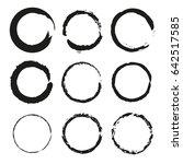 vector set of of black circle... | Shutterstock .eps vector #642517585