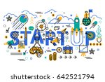 start up business concept... | Shutterstock .eps vector #642521794