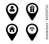 set pointer icons  flat design...