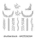 design  floral elements doodle... | Shutterstock .eps vector #642526264