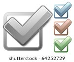 metallic check boxes with check ... | Shutterstock .eps vector #64252729