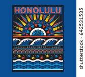 hawaii surf typography  tee... | Shutterstock .eps vector #642531535