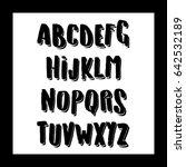vector alphabet. exclusive... | Shutterstock .eps vector #642532189