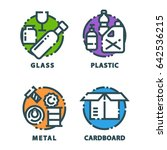 recycling garbage elements... | Shutterstock .eps vector #642536215