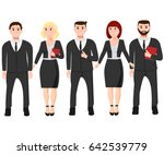 isolated businessman and...   Shutterstock .eps vector #642539779