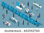 isometric cartoon people  3d...   Shutterstock .eps vector #642542764