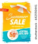 summer sale template banner in... | Shutterstock .eps vector #642550441