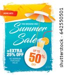 summer sale template banner in... | Shutterstock .eps vector #642550501
