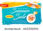 summer sale template banner in... | Shutterstock .eps vector #642550591