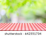 empty table and picnic on... | Shutterstock . vector #642551734