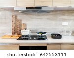 clean and clean kitchen  stove... | Shutterstock . vector #642553111