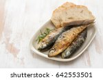Grilled Sardines With Bread On...